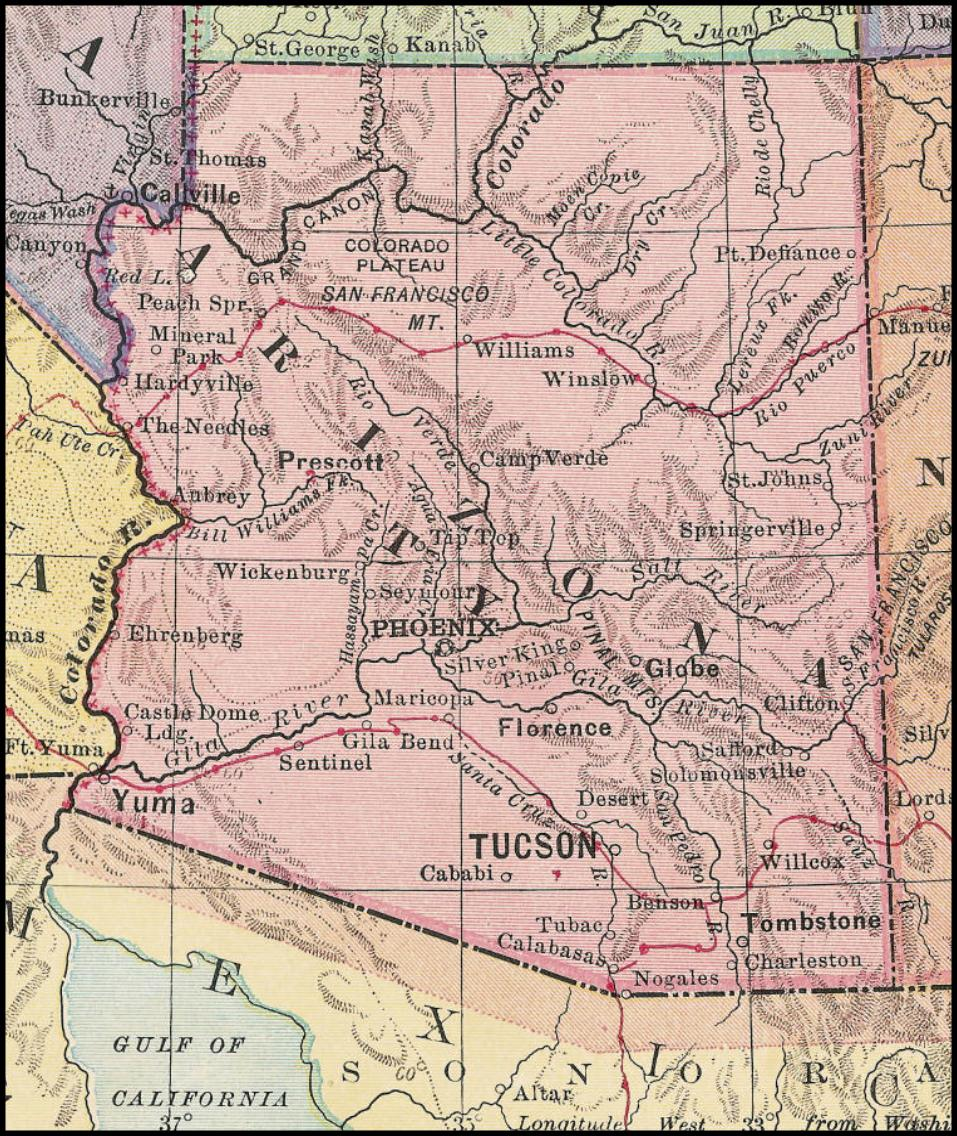 High Chaparral Map 1885